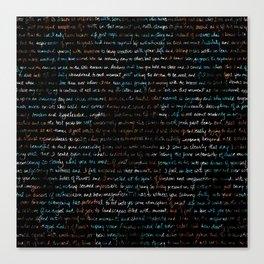 Les Fleurs Kaleidoscope + Journal Writing Overlay Canvas Print