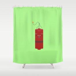 Dynamite explosion guys T-Shirt Dx4x1 Shower Curtain