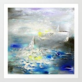 Three horizons Art Print