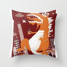 Dinosaur Smash Throw Pillow