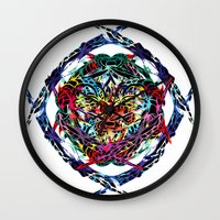 shield Wall Clocks featuring SHIELD by Paix Vivante