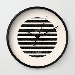 Abstract black shapes Wall Clock