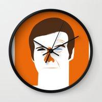 quibe Wall Clocks featuring Steve Austin, the six millions dollars man by quibe