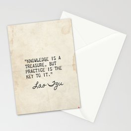 Lao Tzu old great quote Stationery Cards