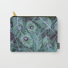 Peacock of Another Color Carry-All Pouch