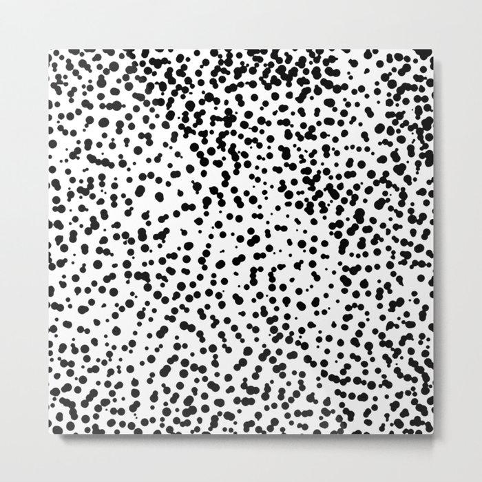 Retro Themed Dot Pattern Design Metal Print