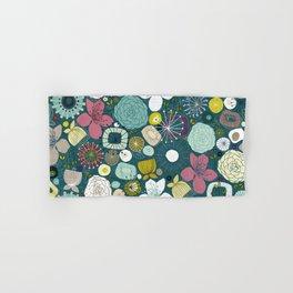 oriental blooms peacock Hand & Bath Towel