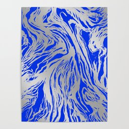 Marbled Blue Poster