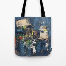 Peacock Blue Abstract Painting Vibrant Modern Art  Tote Bag