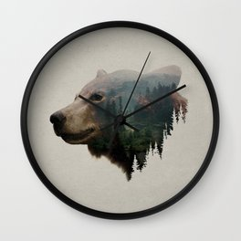 The Pacific Northwest Black Bear Wall Clock