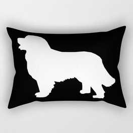 Bernese Mountain Dog silhouette black and white minimal dog gifts Rectangular Pillow