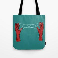 spidey hand trick Tote Bag