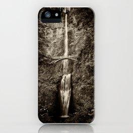 Waterfalls-B&W-Sepia iPhone Case
