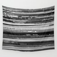 records Wall Tapestries featuring Records 1 by RMK Creative