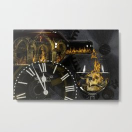 Time Project- 1 Peter 4:17 Metal Print