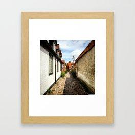 Narrow streets of Ribe Framed Art Print