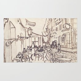 Cafe Terrace at Night (sketch) Rug