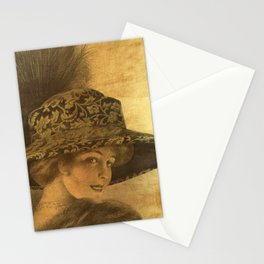 Golden victorian lady Stationery Cards
