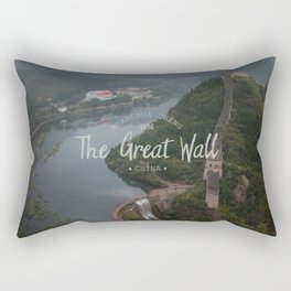 A different view of The Great Wall of China Rectangular Pillow