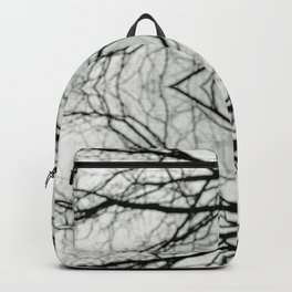 Abstract Bokeh Branches - Black & White Mood - Natural Neutral Backpack