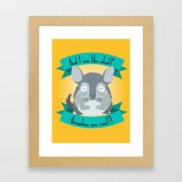 Gremlins Are Real Framed Art Print