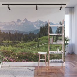 Mountain Wildflower Hiking Highs - 74/365 Wall Mural