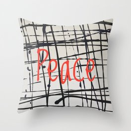 Best foot forward - Peace Throw Pillow