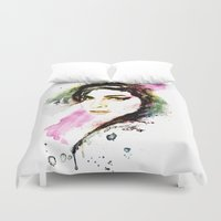 amy hamilton Duvet Covers featuring AMY by Ryan Huddle House of H