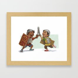 Swordfight! Framed Art Print