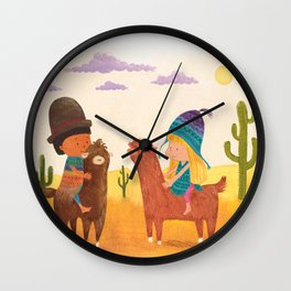 Friends in Mexico Wall Clock