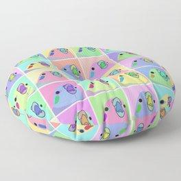 pop art cockatiel Floor Pillow