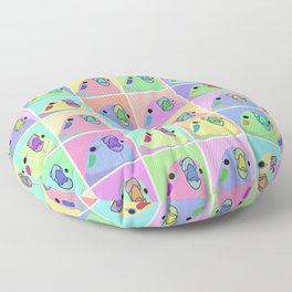 pop art cockatiel Floor Pillow