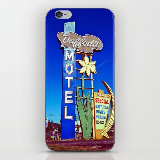 Daffodil Motel sign iPhone & iPod Skin