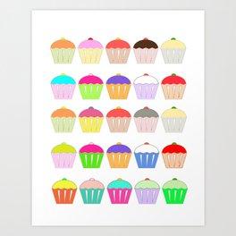 Cupcake Heaven Art Print