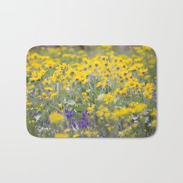 Meadow Gold - Wildflowers in a Mountain Meadow Bath Mat