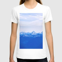 AERIAL PHOTOGRAPHY OF WHITE MOUNTAINS DURING DAYTIME T-shirt
