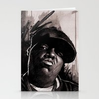 biggie Stationery Cards featuring BIGGIE by ChrisGreavesArt