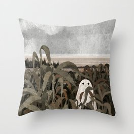 There's A Ghost in the Cornfield Again Throw Pillow