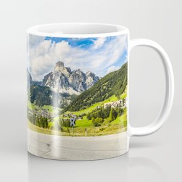 on the roads of dolomites Coffee Mug