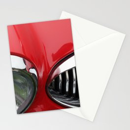 red and chrome - vintage 1960s sports car Stationery Cards