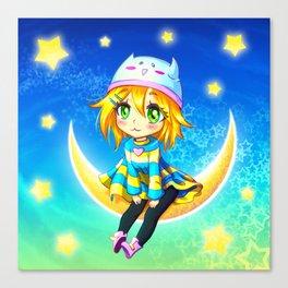 Moon Kid Canvas Print