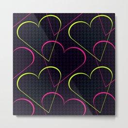 Melodic Heart - Neon Metal Print