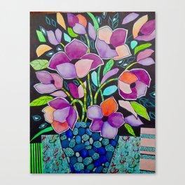 Blue Pot Canvas Print
