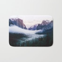 Misty Tunnel View - Yosemite National Park, CA Bath Mat