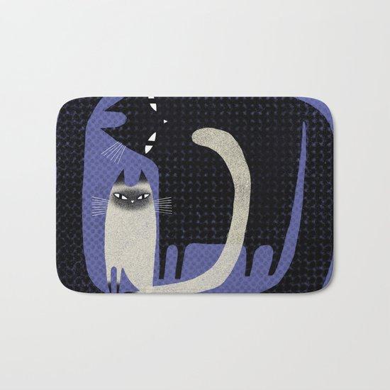 CONTRAST CATS Bath Mat