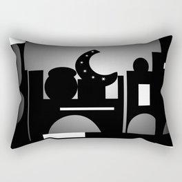 Night Time Bazaar Rectangular Pillow