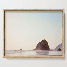Cannon Beach - Nature, Landscape Photography Serving Tray