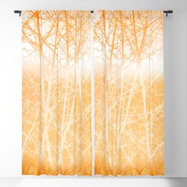 Frosted Winter Branches in Dusty Orange Blackout Curtain