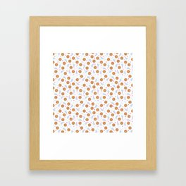 Happy Milk and Cookies Pattern Framed Art Print