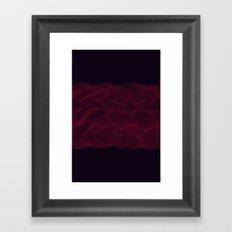 Facets - Dark Purple Framed Art Print
